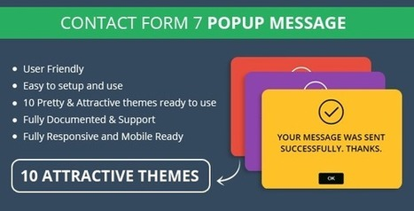 FREE in April | Contact Form 7 Popup Message (WP/Plugin) | Design Freebies & Deals | Scoop.it