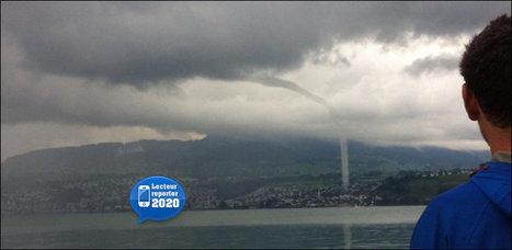 20 minutes - Spectaculaire trombe d'eau sur le lac de Zurich - Suisse | Camping-Suisse.info | Scoop.it