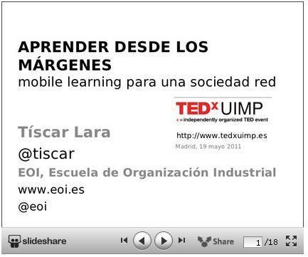 Mobile Learning – Mlearning EOI » Aprender desde los márgenes, mobile learning para una sociedad red | Las TIC y la Educación | Scoop.it