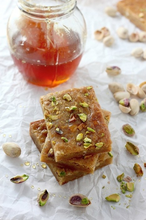Brown Butter and Honey Pistachio Cookie Bars - Baker by Nature | Candy Buffet Weddings, Events, Food Station Buffets and Tea Parties | Scoop.it