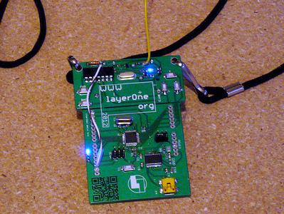 Morse code beacon wins the LayerOne badge hacking contest | Hackaday | Scoop.it