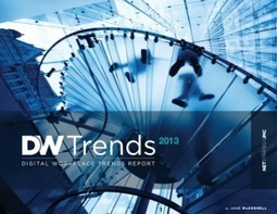 Digital Workplace et intranet : les tendances 2013 | Web 2.0 l'Information | Scoop.it