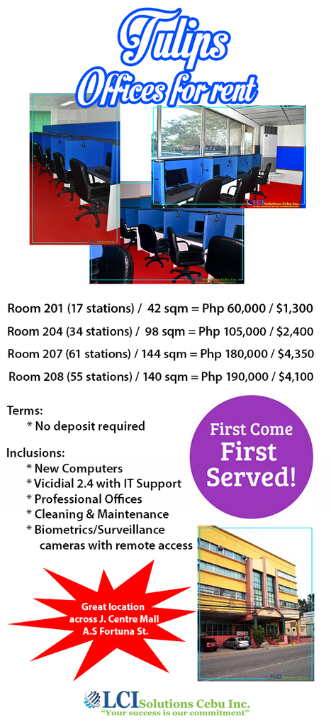Office And Building Space for Rent in Cebu City: Cebu Call Center Seat Leasing | Seat Leasing For Call Center | Scoop.it