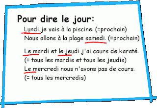 Quel jour ? - Exprimer la fréquence | Le francais comme langue internationale | Scoop.it