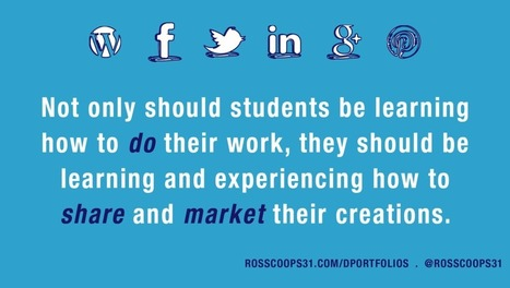Digital Portfolios and Blogs: Use Authentic Technology, Not Technology Made for School - Cooper on Curriculum | TechLib | Scoop.it