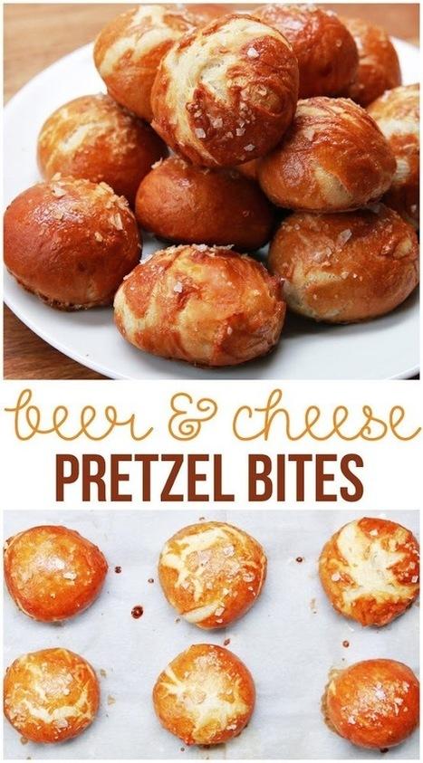 #Recipe : Beer & Cheese Pretzel Bites | Cooking Blog | DIY & Crafts | Scoop.it