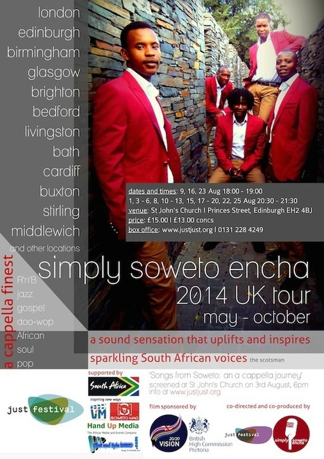 Simply Soweto Encha - from the townships to the world | Just Festival | Scoop.it