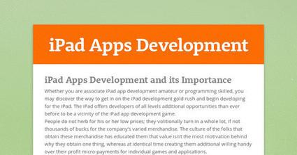 iPad Apps Development and its Importance | iPad Applications Development | Scoop.it