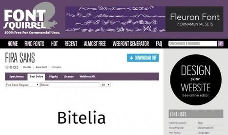 Los mejores sitios para descargar tipografías premium gratuitas y open source│@bitelia | Educacion, ecologia y TIC | Scoop.it