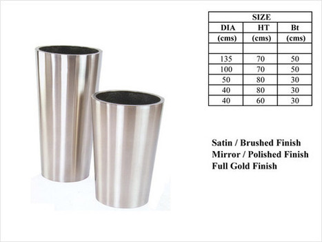 conica.jpg (600x450 pixels) | Metal planters like aluminium and stainless steel planters for our garden | Scoop.it