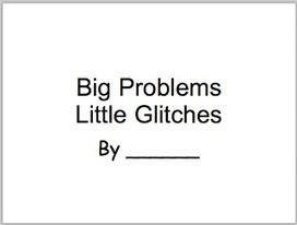Big Problems, Little Glitches---customized books you can make | Speech-Language Pathology | Scoop.it