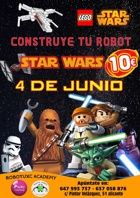 El próximo 4 de Junio taller de Robótica Educativa de STAR WARS. RobotuXc Academy #tuxccoaching   Robótica Educativa tuXc Coaching   Scoop.it