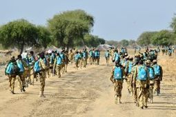 Soldiers in South Sudan photographed wearing backpacks donated for children | Africa | Scoop.it