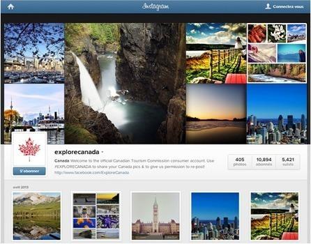 Instagram: un allié mobile pour l'industrie touristique | Accueil numérique dans les offices de tourisme | Scoop.it