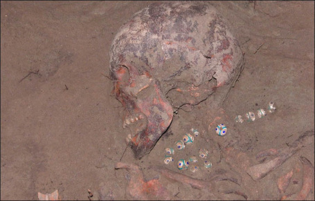 Ancient Egyptian necklace found on the skeleton of a 'virgin priestess' in Siberian burial mound | Ancient Egypt and Nubia | Scoop.it