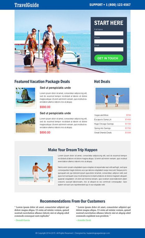 best-travel-guide-lead-generation-lp-4 | Travel landing page design preview. | Crew Community | Scoop.it