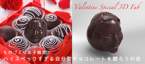 Fab Cafe in Tokyo Preps Sweet 3D Printing Workshop in Time for Valentine's Day | Exploded Stories | Scoop.it