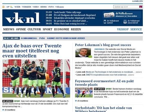 Maak je eigen voorpaginanieuws in de Telegraaf of de Volkskrant | Kranten, nieuws en reclame: Mediawijsheid PO | Scoop.it