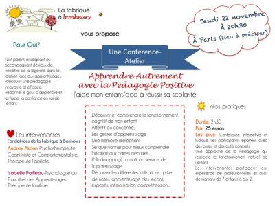 Conférence: «Apprendre Autrement avec la PédagogiePositive» | Nouveaux paradigmes | Scoop.it