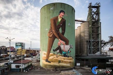 Street Art Silos: il Porto di Catania cambia veste | Archeologia Industriale | Scoop.it