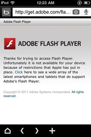 Adobe using iOS Flash restriction to promote Android | Neon Binary | Everything about Flash | Scoop.it