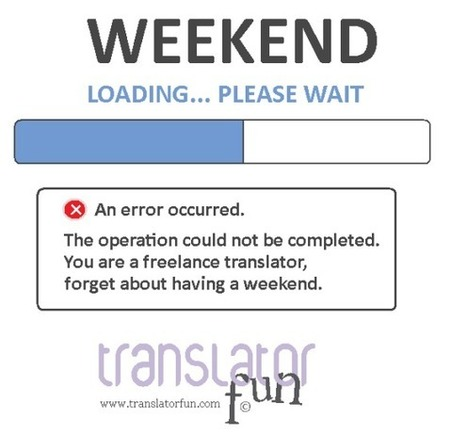 A weekend in the life of a freelance translator | Wit for and by Translators | Scoop.it