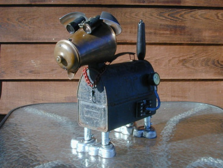 COPPER Found Object Dog Robot Sculpture  Assemblage by yllas | Kitsch | Scoop.it