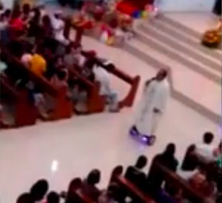 Laguna priest chided for using hoverboard in Mass | Quite Interesting News | Scoop.it