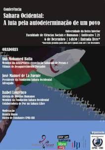 Direção da FCSH-UBI cede a pressões da embaixada de Marrocos e proibe conferência sobre o Sahara Ocidental - POR UN SAHARA LIBRE .org | Ocupar Portugal | Scoop.it