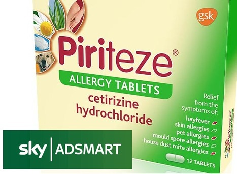 Sky AdSmart and Piriteze release pollen activated campaign | Dynamic Ad Insertion & linear TV | Scoop.it