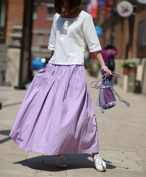 Literary fresh linen skirts A word skirt  : Jupe par ebuicakebs | Ladies Fashion | Scoop.it