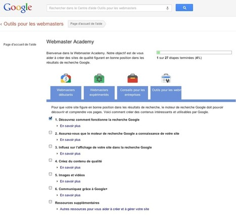 L'Académie des Webmasters Google disponible en français | Time to Learn | Scoop.it