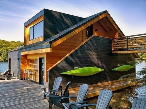 Une maison flottante en bois pour palier aux intempéries | Immobilier | Scoop.it
