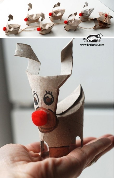 10 Christmas craft projects made out of toilet paper rolls | SoAnn | Scoop.it