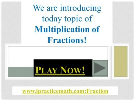 Play Now Fraction Game | Fun Math for kids | Scoop.it