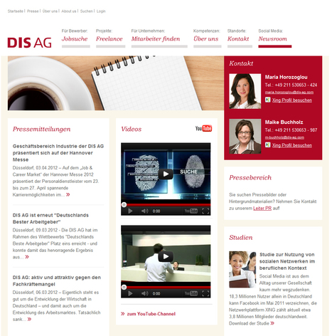 Newsroom - DIS AG - Ihr Partner für strategische Personallösungen | Social Media Newsrooms | Scoop.it