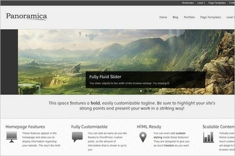 Panoramica is a free WordPress Theme by CPOThemes | WP Daily Themes | Free & Premium WordPress Themes | Scoop.it