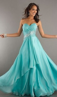 Gorgeous Long Aqua Sparkly Layered Strapless Prom Dresses [long aqua prom dress] - $173.90 : lafemme2013outlet.com | long prom dresses | Scoop.it