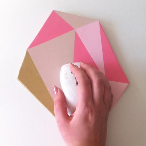 DIY | Un tapis de souris pour un bureau très girly ! | décoration & déco | Scoop.it