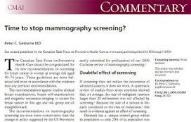 ¿Debemos suspender las campañas poblacionales de cribado de cáncer de mama mediante la mamografía? | Busqueda de informacion medica en la web | Scoop.it
