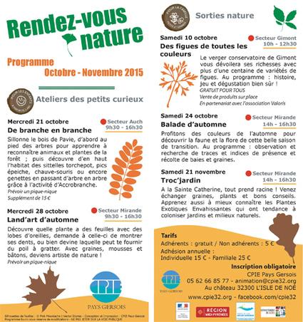 CPIE éducation à l'environnement, Gers | Programme des vacances | Les news du Gers : toute l'actualité du gers | Scoop.it