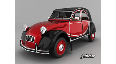 Citroën 2 CV en 3D | 3D Library | Scoop.it