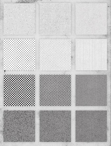Free Pack of 12 Distressed Halftone Pattern Textures | Informatyka-Grafika-Technologie graficzne | Scoop.it