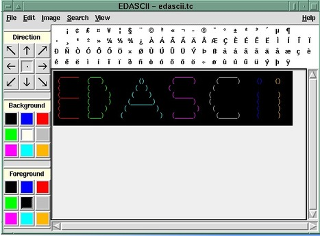 LINUX free software download - EDASCII ASCII art editor   ASCII Art   Scoop.it