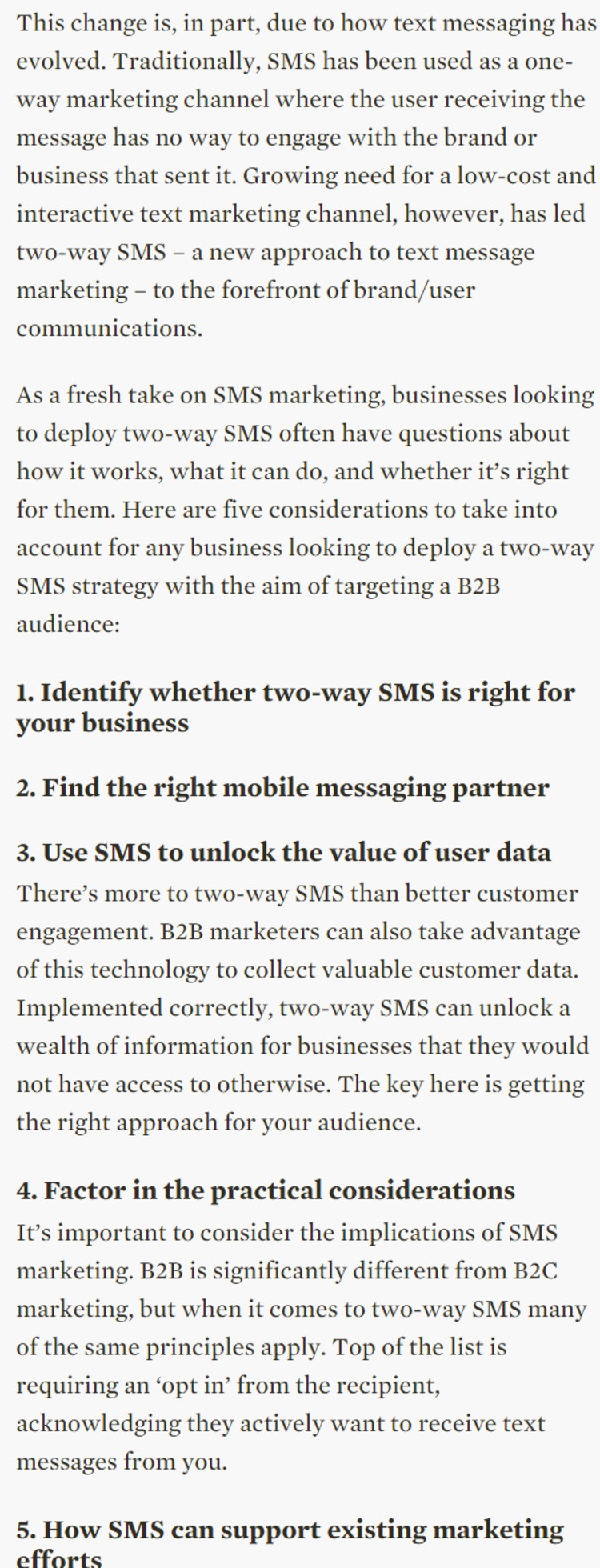 Better B2B marketing with two-way SMS - Fourth Source | The Marketing Technology Alert | Scoop.it