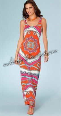 Emilio Pucci Stretch Rayon Knit Tank Maxi Dress Sale [Knit Tank Maxi Dress] - $203.99 : Emilio pucci dresses online outlet,discount pucci dresses on sale! | chic items | Scoop.it