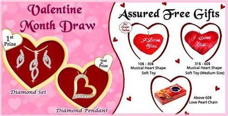 Assured FreeGifts and chance to win Diamond Set and Diamond Pendant this Valentine Day | Us2guntur | Scoop.it