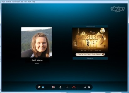 Skype to Introduce In-Call Advertising | love | Scoop.it