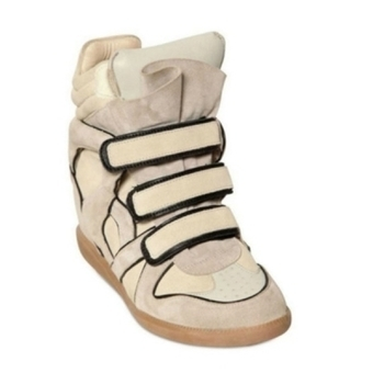 Isabel Marant Wila Suede Wedge Sneakers   Isabel Marant Shoes   Scoop.it