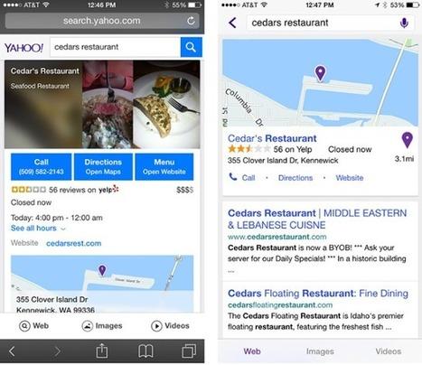 Le nouveau Yahoo Search mobile a de quoi inquiéter les SEO - #Arobasenet.com   Les Outils du Community Management   Scoop.it